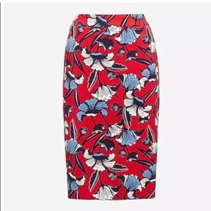 J. Crew stretch floral pencil skirt, NWT